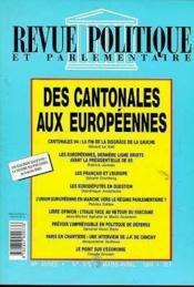 Rpp T.970 Mars-Avril 1994 ; Cantonales - Couverture - Format classique