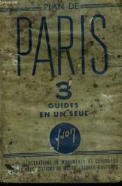 Plan De Paris. 3 Guides En Un Seul - Couverture - Format classique