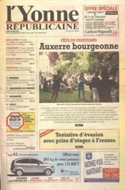 Yonne Republicaine (L') N°122 du 28/05/2001 - Couverture - Format classique