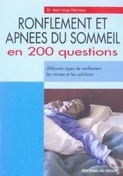 Ronflements Et Apnees Du Sommeil - Intérieur - Format classique