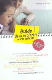 Guide de la scolarité de vos enfants - Intérieur - Format classique