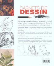 Carnets de dessin ; une approche pratique et innovante pour dessiner le monde qui vous entoure - 4ème de couverture - Format classique