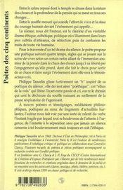 Poethique Du Silence - 4ème de couverture - Format classique