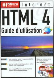 Html 4 guide utilisation - Intérieur - Format classique