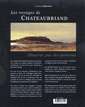 Les Voyages De Chateaubriand Illustres Par Les Peintres - 4ème de couverture - Format classique