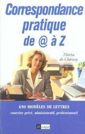 Correspondance Pratique De A Z - Intérieur - Format classique