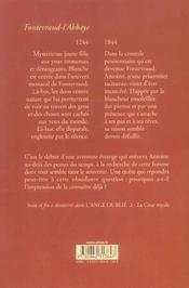 L'ange oublie t.1 ; l'abbaye - 4ème de couverture - Format classique
