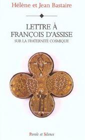 Lettre A Francois D'Assise Sur L Ecologie Chretienne - Intérieur - Format classique