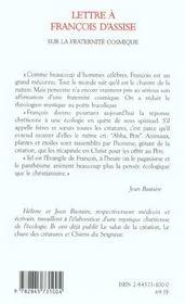 Lettre A Francois D'Assise Sur L Ecologie Chretienne - 4ème de couverture - Format classique