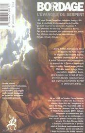 L'Evangile Du Serpent Ned - 4ème de couverture - Format classique