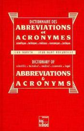 Dict. abreviations & acronymes (2[ed) - Couverture - Format classique