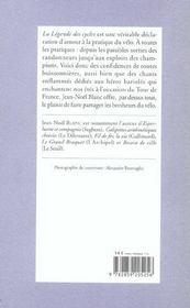 La Legende Des Cycles - 4ème de couverture - Format classique