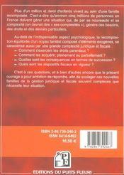 Guide de la famille recomposee. droits parentaux. dispositifs fiscaux. successions... - 4ème de couverture - Format classique