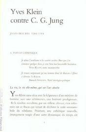 Yves Klein Contre C.G.Jung - Intérieur - Format classique