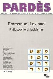Emmanuel levinas, philosophie et judaisme - Intérieur - Format classique