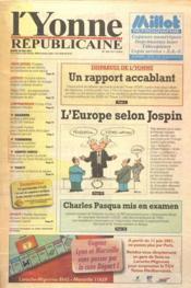 Yonne Republicaine (L') N°123 du 29/05/2001 - Couverture - Format classique
