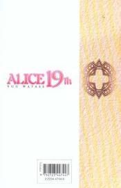 Alice 19th t.7 - 4ème de couverture - Format classique
