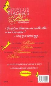 Nouvelles blagues de blondes - 4ème de couverture - Format classique