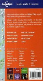 Milan (2e edition) - 4ème de couverture - Format classique