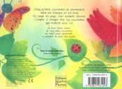 Cinq petites coccinelles - 4ème de couverture - Format classique