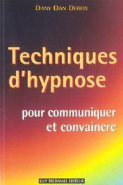 Techniques d'hypnose pour communiquer et convaincre - Intérieur - Format classique