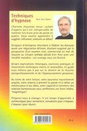 Techniques d'hypnose pour communiquer et convaincre - 4ème de couverture - Format classique
