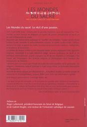 Mondes Du Sacre - 4ème de couverture - Format classique