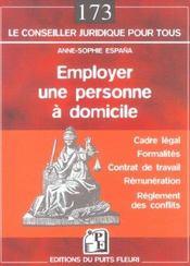 Employer Une Personne A Domicile. Cadre Legal. Formalites. Contrat De Travail. R - Intérieur - Format classique