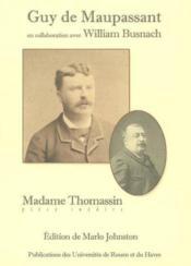 Madame Thomassin ; pièce inédite - Couverture - Format classique