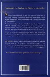 Développez vos facultés psychiques et spirituelles - 4ème de couverture - Format classique