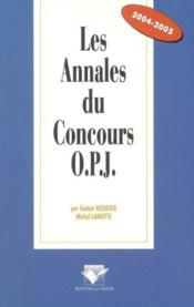 Les annales du concours opj - Couverture - Format classique