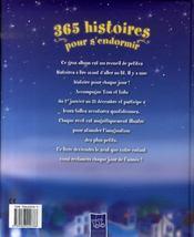 365 histoires pour s'endormir - 4ème de couverture - Format classique