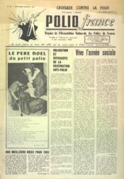 Polio France N°62 du 01/12/1965 - Couverture - Format classique