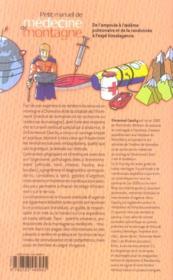 Petit manuel de médecine de montagne - 4ème de couverture - Format classique