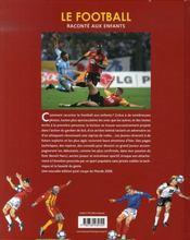 Le football raconté aux enfants - 4ème de couverture - Format classique
