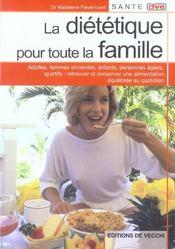 Dietetique Pour Toute La Famille - Intérieur - Format classique