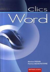 Word ; Manuel De L'Eleve - Intérieur - Format classique