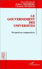 Le gouvernement des universités ; perspectives comparatives - Couverture - Format classique