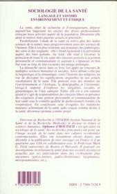 Sociologie De La Sante Langage Et Savoirs Environnemen - 4ème de couverture - Format classique