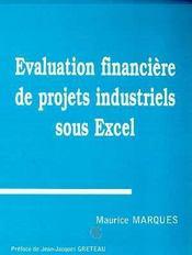 Evaluation Financiere De Projets Industriels Sous Excel - Intérieur - Format classique