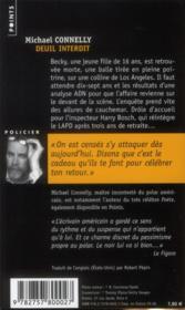 Deuil interdit - 4ème de couverture - Format classique