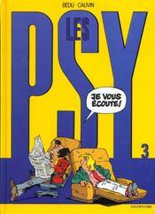 Les psy t.3 ; je vous ecoute - Intérieur - Format classique