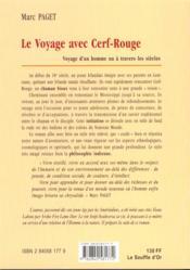 Le Voyage Avec Cerf-Rouge - 4ème de couverture - Format classique