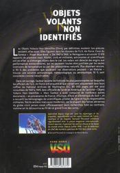Objets volants non identifies - 4ème de couverture - Format classique