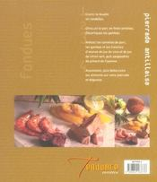 Fondues, pierrades et raclettes - 4ème de couverture - Format classique