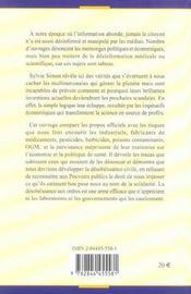 Information Ou Desinformation ; La Manipulation Mediatique Et Politique En Matiere De Sante - 4ème de couverture - Format classique