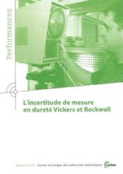 L'incertitude de mesure en durete vickers et rockwell performances resultats des actions collectives - Couverture - Format classique