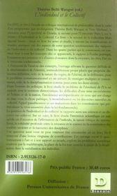 L'Individuel Et Le Collectif - 4ème de couverture - Format classique