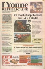 Yonne Republicaine (L') N°223 du 26/06/2001 - Couverture - Format classique