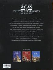 Le Grand Atlas De L'Histoire Des Regions De France - 4ème de couverture - Format classique